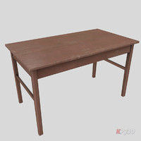 3d table old wooden