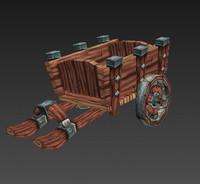 3d model of cart