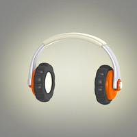 3d model of cartoon headphones