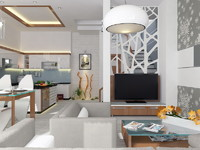 3d livingroom - kitchen model