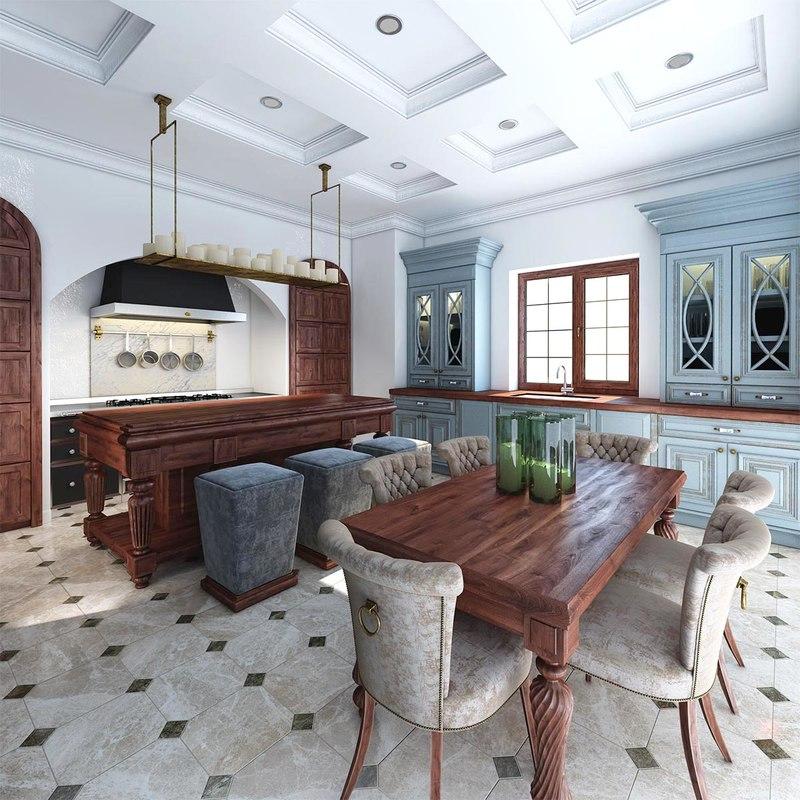 3d Max Kitchen Interior Design: Kitchen Interior 3d Max