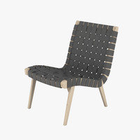 3d model jens risom knoll chair