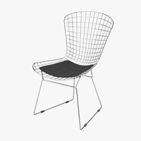 3d harry bertoia wire chair model