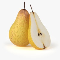 3d model of realistic pear fruit real
