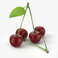 3d c4d realistic cherries real fruit