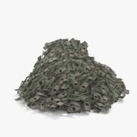 3d model money pile