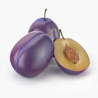 3d realistic plum fruit real