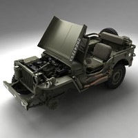 3d army willys jeep model