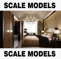 3dsmax bedroom bed interior