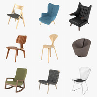 3d model chairs hans wegner