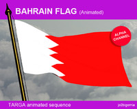 Bahrain animatef flag