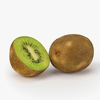 realistic kiwi fruit real 3d model