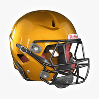 american football helmet riddell 3d model