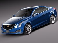 3d model 2015 coupe cadillac