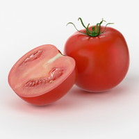 3d model realistic tomato real vegetables