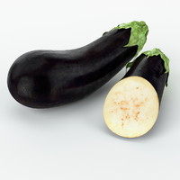 3d realistic eggplant real vegetables