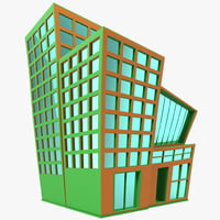 cartoon building 3d max
