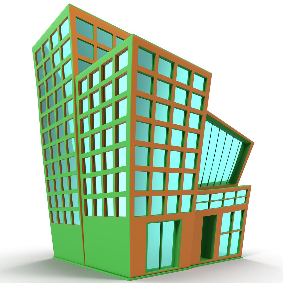 Cartoon building 3d max for 3d house builder online
