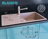 kitchen blanco metra 45 3d model