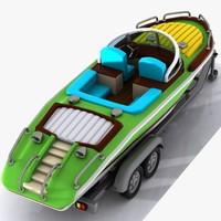car motorboat 3d max