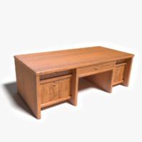 3d wood desk