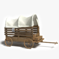 old western wagon 3d 3ds