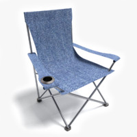 3d camping chair model