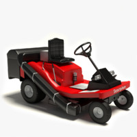 riding lawn mower 3d model