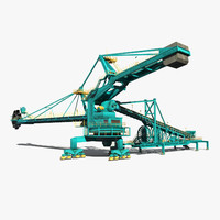 reach stacker 3D models
