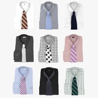 Collection Of Shirt With Tie