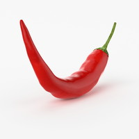 realistic chili real 3d model