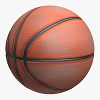 3d model realistic basketball old