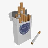 pack cigarettes 3d 3ds
