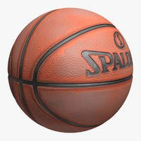 basketball spalding old 3d model