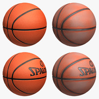 3d basketball set model