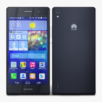 huawei ascend p7 black 3d model