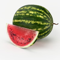 3d realistic watermelon real