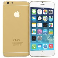 apple iphone 6 gold 3d lwo