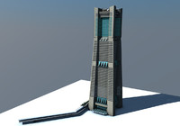 3d model landmark tower yokohama