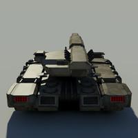 3d model of sci fi tank