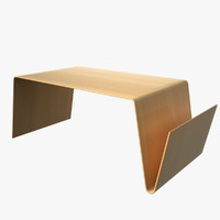 table magazine rack 3d model