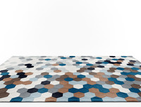 carpet boconcept kaleidoscope 3d model