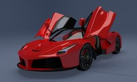 3d laferrari concept car