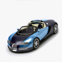 3d model bugatti veyron rigged