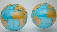 Wire Earth Globe (High details & animated)+BONUS (globe low details)