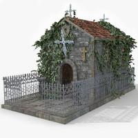 3d tomb grave model