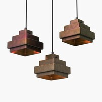 pendant lights lustre square 3d max