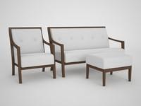 3d model millenium accento armchair sofa
