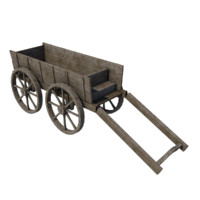 old wooden cart model