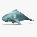 cartoon whale 3D models